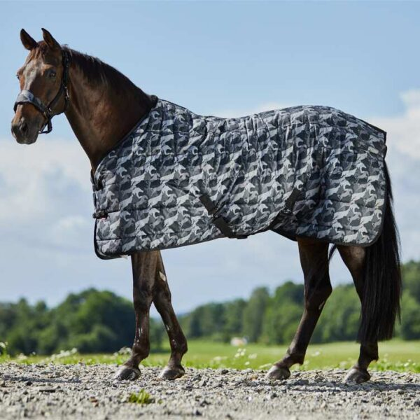 Horse Stable Rug with Camo-Print, 200g